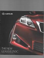 LEXUS IS 250C (250C SE-1 & IS 250C SE-L) SALES BROCHURE JANUARY 2009