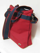 LACOSTE Womens Ladies Shoulder Vertical TOTE Bag New City Casual13 Red AUTHENTIC