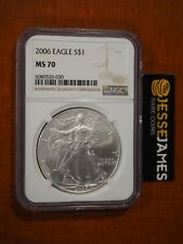 2006 $1 AMERICAN SILVER EAGLE NGC MS70 CLASSIC BROWN LABEL