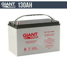 130AH Deep Cycle Batteries 12V AGM Deep Cycle Battery Camping, Marine,4WD,Solar