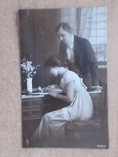 WWI 1914 POSTCARD - WRITING A LETTER TO A LOVED ONE 5366