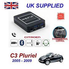 ForCitroen C3 Pluriel MusicStream Bluetooth Telephon Charger SD AUX CD ModuleRD4