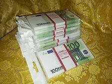 EURO. SOUVENIR BANKNOTE 100euro, 10pcs  (SIZE:155*75mm#95~100pc)NEW.