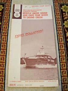 NAVIGATIONAL CHART / MAP: MYRTLE GROVE SOUND & CAPE FEAR RIVER TO CASINO CREEK