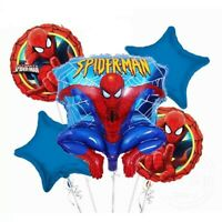 "18"" Spiderman Superhero Marvel Foil Balloon Party Birthday 5pcs UNINFLATED"