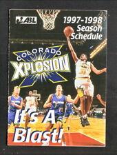 Colorado Xplosion--1997-98 Pocket Schedule--ABL