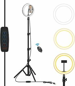 Ring Light with Tripod Stand & Phone Holder, 10 Inch Selfie Ring Light for YouTu