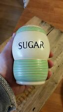 Vintage TG Green Streamline Green Banded Sugar Sifter / Shaker – Great! –