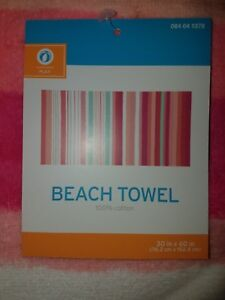 Bright Multicolored Striped Beach Towel from Target -- New With Tags