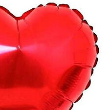 Pack of 5 Large Red Heart Helium Metallic Celebration Balloon - By TRIXES