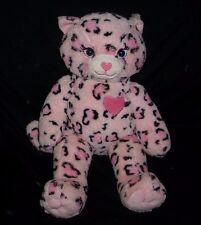 BUILD A BEAR LIGHT PINK SASSY CAT KITTY LEOPARD STUFFED ANIMAL PLUSH TOY BABW