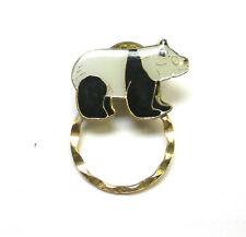 Enameled Panda Bear Spec Pin Detti Originals