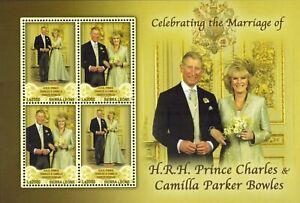 MODERN GEMS- Sierra Leone - Prince Charles & Camilla Wedding - Sheet of 4 -MNH