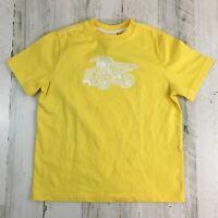 NWT Hanna Andersson Yellow Dump Truck Short Sleeve T Shirt Boys Sz 120 6 7