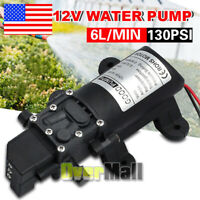 12V Water Pump 6LPM High Pressure Self-Priming for Caravan Trailer Camping Boat
