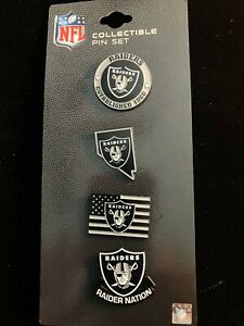 NEW 2020 ISSUE Las Vegas Raiders Collectible Pin Set Est 1960 - Flag - Nation +