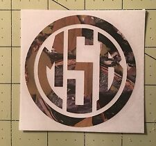 Camouflage Monogram Decal For Your Yeti Rambler Tumbler Colster