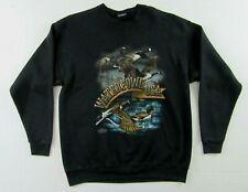 Vintage '94 Waterfowl Usa Duck Goose Geese Hunting Black Ls Sweatshirt Size Xl