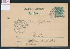 33529) Bahnpost Ovalstempel Breslau - Myslowitz ZUG 278, GA 1899