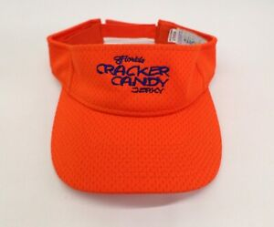 Florida Cracker Candy Jerky Sun Visor Hat Cap Beef Alligator Tuna Safety Orange