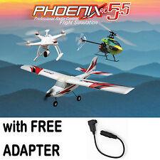 Phoenix R/C Pro Flight Simulator V5.5 Version RTM5500 w/ Futaba Square Adapter