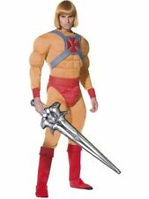 He-Man Masters of Universe Outfit & Wig Superhero Fancy Dress Costume Adult 80's
