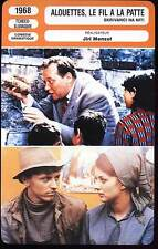 ALOUETTES LE FIL A LA PATTE - J.Menzel (Fiche Cinéma) 1968 - Larks On A String