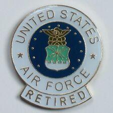 US Air Force Retired Metal pin Military Seal Eagle Lapel tack Hat Jacket Tac