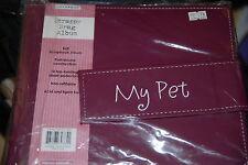 PET 8x8 STRAPPY BRAG  POST BOUND SCRAPBOOK ALBUM COLORBOK