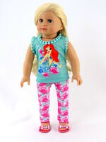 Mermaid Top & Pants Pajamas PJs Made For 18 Inch American Girl Doll Clothes
