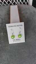 Sterling Silver Green Murano Glass Earrings Dobbs Boston Italy