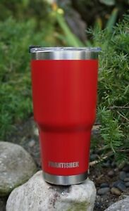 30 oz Stainless Steel Tumbler Insulated Coffee Cup Large Travel Mug Glossy Red