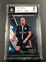 KYLIAN MBAPPE 2018 TOPPS FINEST CHAMPIONS LEAGUE #50 ROOKIE RC NM-MINT BGS 8 (D)