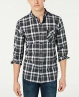 Levi's Men's Collared Long Sleeve Reese Plaid Button-up Shirt (Gray, XL)