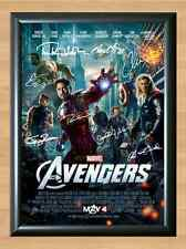 THE AVENGERS CAST Signed Autographed A4 Poster Print Photo Movie Film Photograph