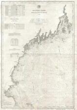 1881 U.S.C.G.S. Nautical Chart of the New England Coast: Boston, Cape Ann, Maine