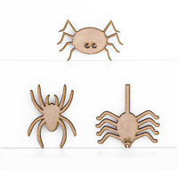 Wooden MDF Spiders Halloween Insects Decoration 3mm Thick Tags Blank