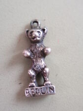 VINTAGE MINIATURE SOLID SILVER STAMPED 835 CONTINENTAL BERLIN BEAR CHARM PENDANT