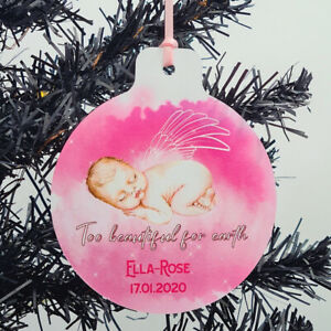 Baby Girl Memorial Remembrance Personalised Christmas Tree Decoration