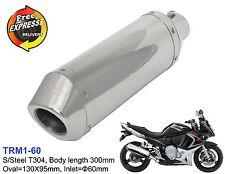 Motorrad Auspuff ovale Rennauspuff Schalldämpfer für Suzuki GSX 650F ATV  60mm
