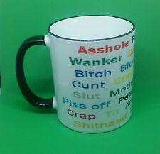Funny Rude mug swear sexy cunt-fuck-bastard-asshole-wanker-tit novelty coffee...