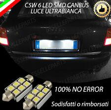 COPPIA LUCI TARGA LED AUDI A6 C5 AVANT CANBUS NUOVO MODELLO 6 LED 100% NO ERROR