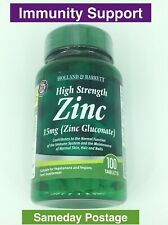 Holland & Barrett High Strength Zinc 100 Tablets 15mg Immunity Support Health