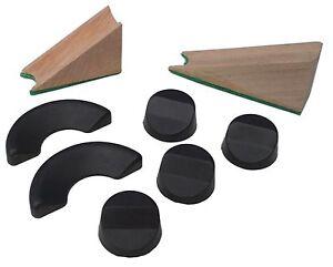 ACCLAIM Wedges Bowlers Rubber & Wood Set 1 Pair Wood 1 x 6 Piece Wedge Set