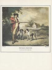 "1974 Vintage HUNTING ""PARTRIDGE SHOOTING #1"" FLINTLOCK LONG GUN Art Lithograph"