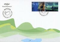 Iceland Stamps 2019 FDC Tourism Diving Tours & Aurora Borealis 2v Set