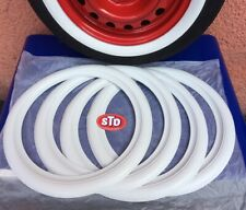 """16"""" Tire Classic American Style Side wall White wall tire trim Set Ford Chevy VW"""