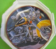 """Franklin Mint Harley Davidson """"Iron Stinger"""" Collector Plate Motorcycle"""