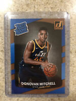 2017-18 Donruss Donovan Mitchell Rookie Card RC Rated Rookie Utah JAZZ #188 NBA