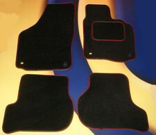 VW GOLF MK5 &TDi 2004 - 2007 BLACK QUALITY CAR MATS WITH OVAL CLIPS B